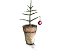 murpworks Christmas Tree and Bauble card image