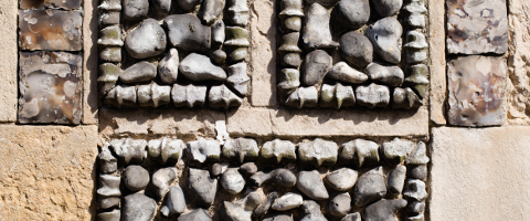 Stone Wall Detail - Cley photo