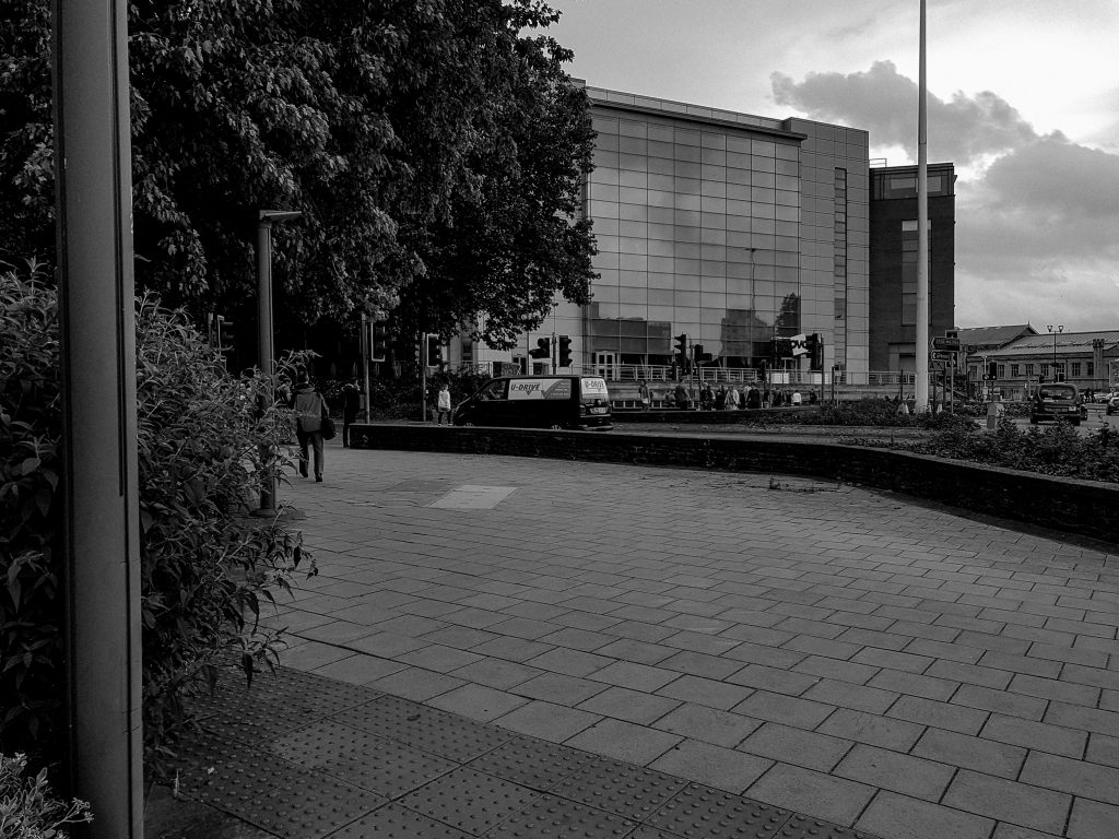 Sea of Paving Slabs B+W image