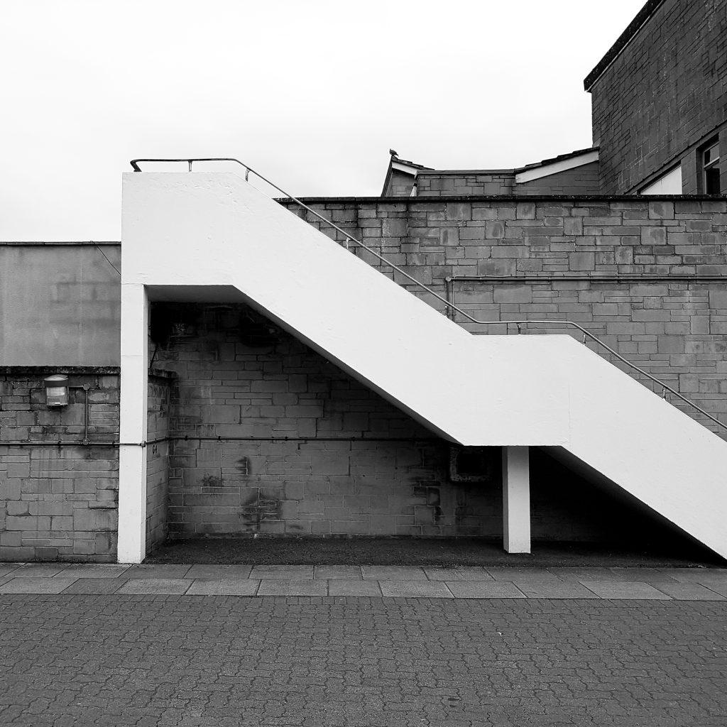 Steps B+W Street image