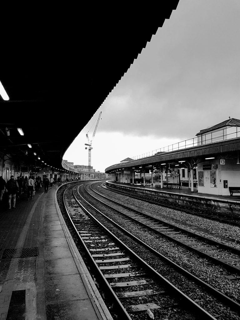 Platform 11 B+W image