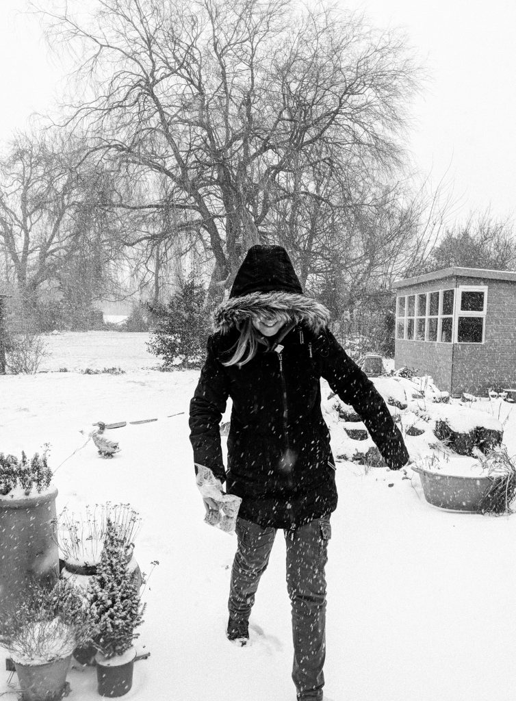 mu in the Snow B+W image