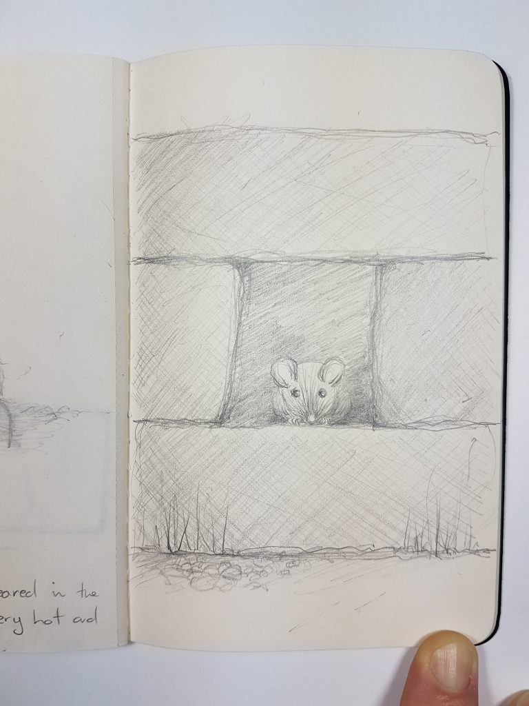 Mouse in Bricks sketchbook image