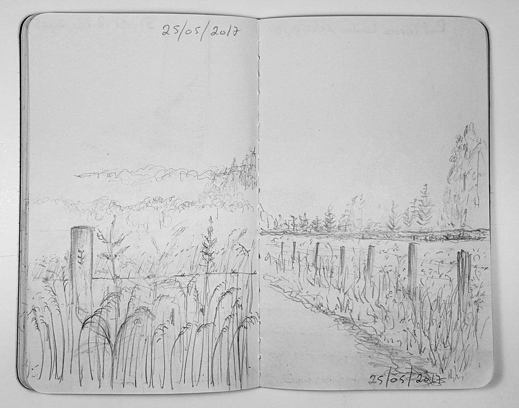 The Farm Path to the Woods sketch
