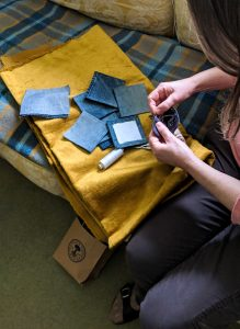 'Something' Denim Squares - mu image