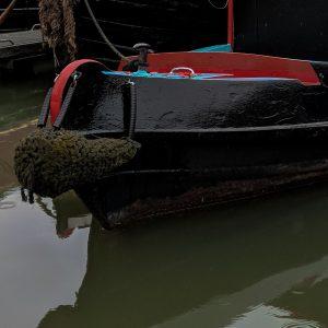 Rename - the Narrowboat name plate closeup image