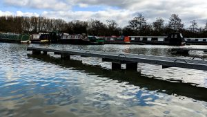 The narrowboat's out of the water - Jetty I image