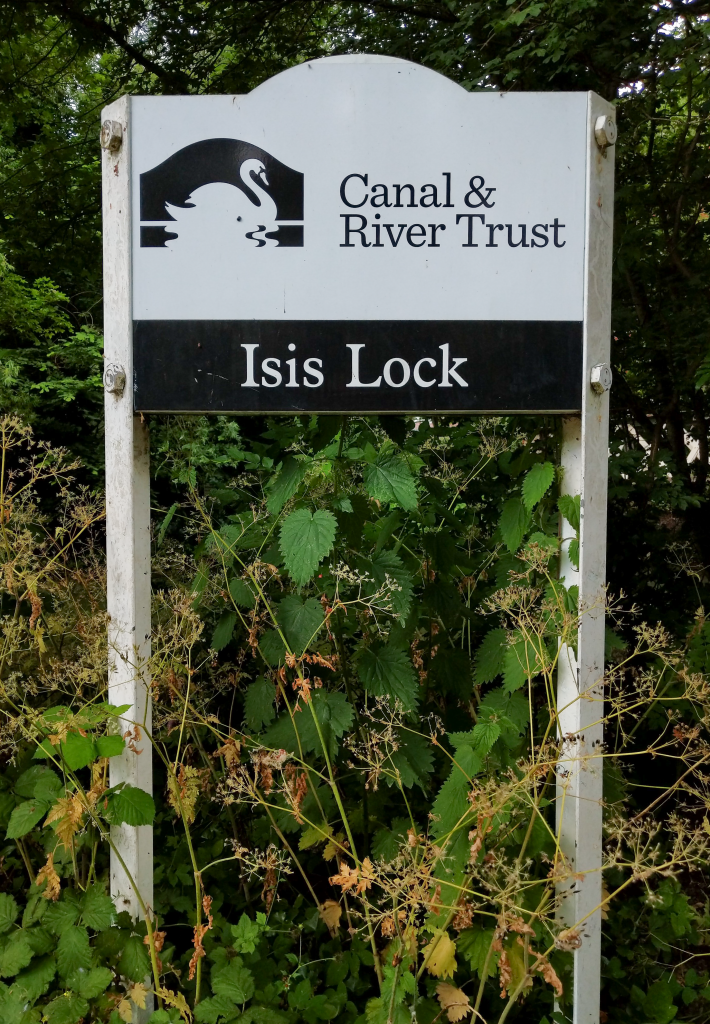 The Long Journey Home - Part 14 - Onto The Thames - Nearly - Isis Lock Sign image