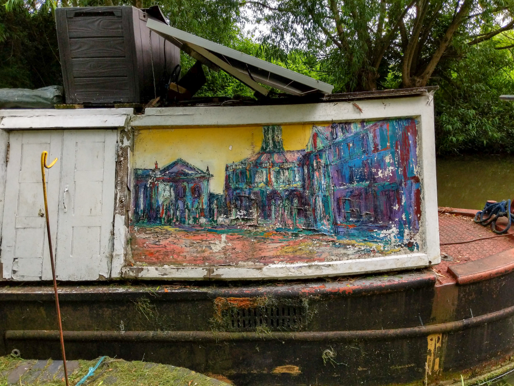 The Long Journey Home - Part 14 - Onto The Thames - Nearly - Narrowboat Artwork image