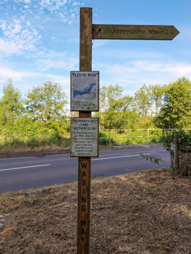 The Long Journey Home - Part 18 - An Arrival - Signpost to Aldermaston Wharf